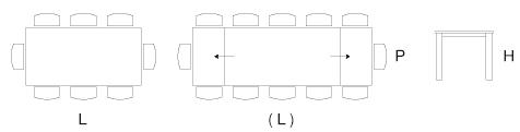 Dimensioni tavolo Venezia