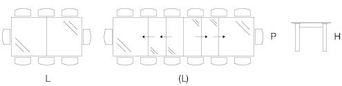 Dimensioni tavolo Vieste